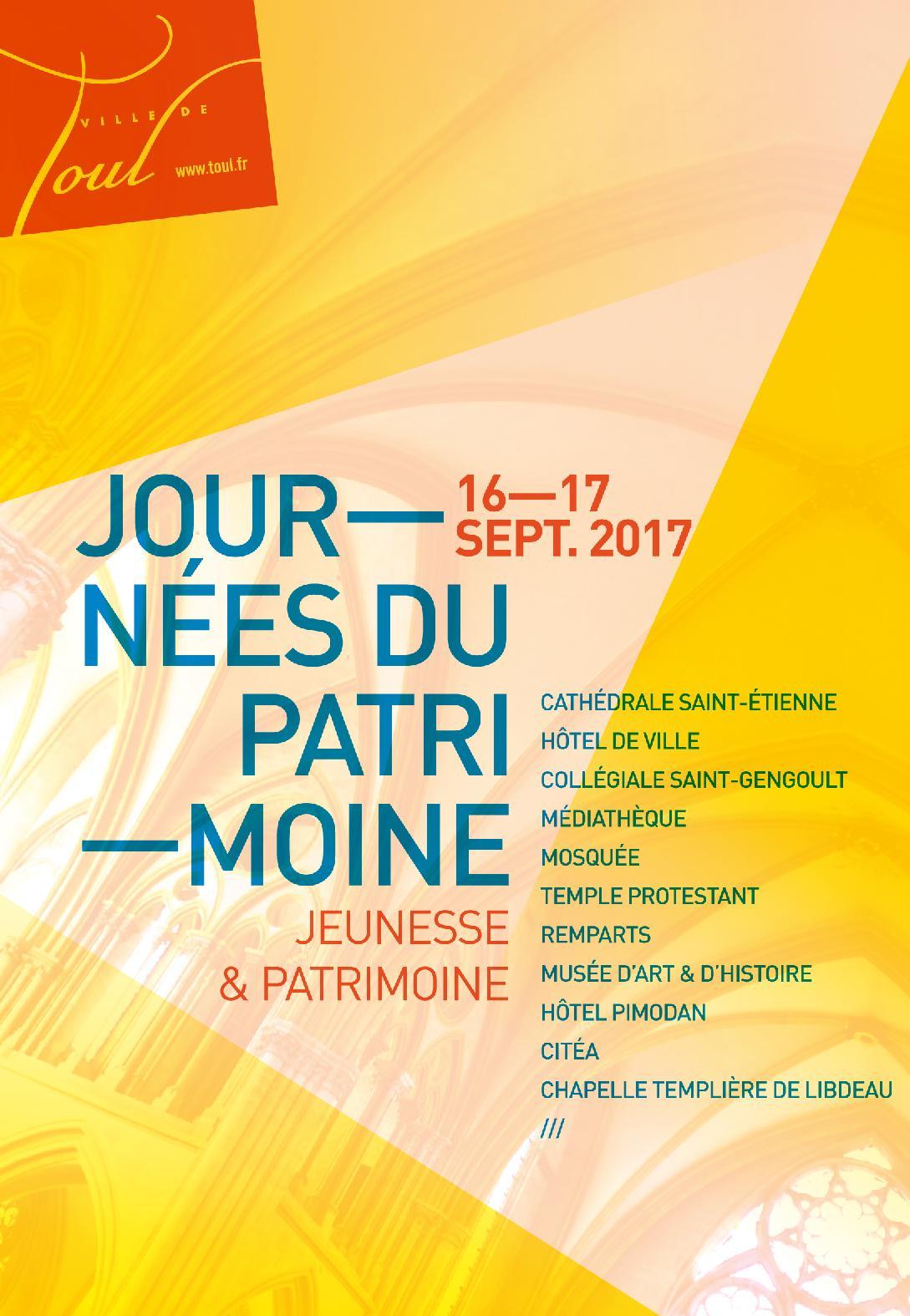 Programme Journées du Patrimoine 2017 à Toul