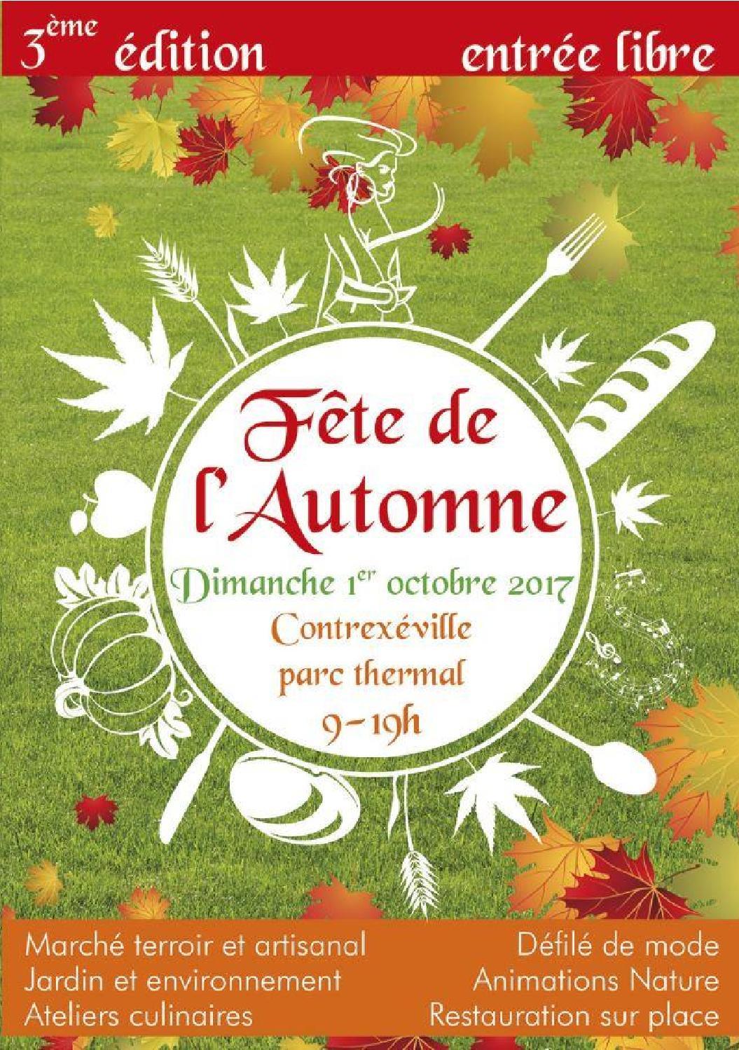 Programme Fête de l'Automne à Contrexéville 2017