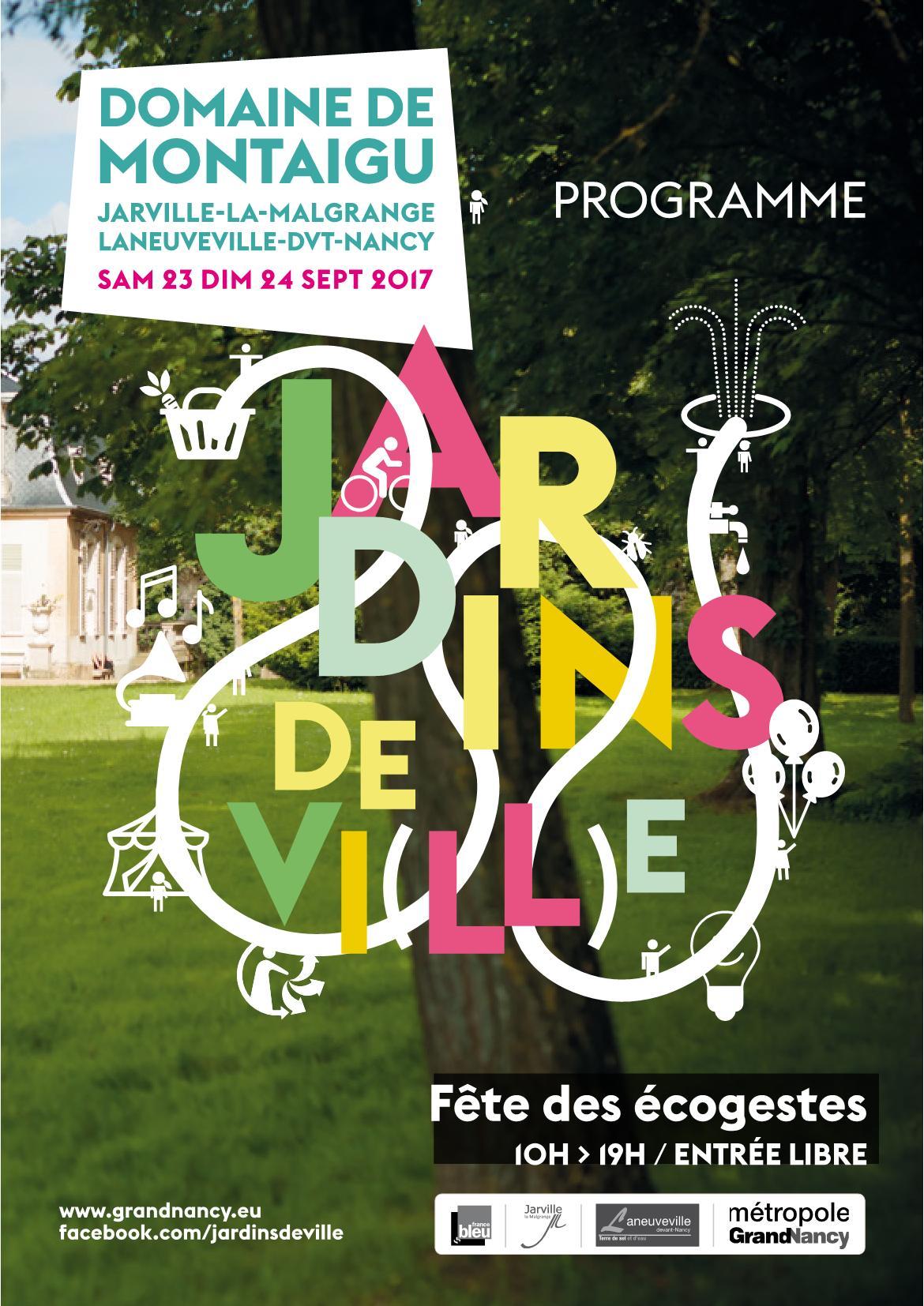 Programme Jardins de Ville, Jardins de Vie Grand Nancy 2017
