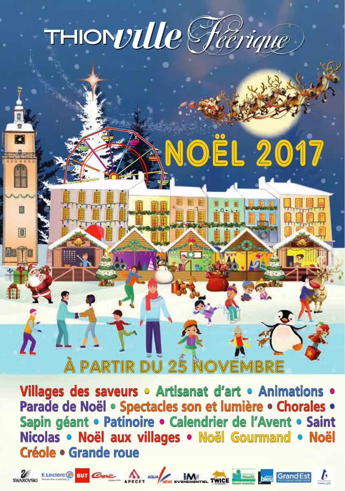 Programme Marché et Festivités de Noël Thionville 2017