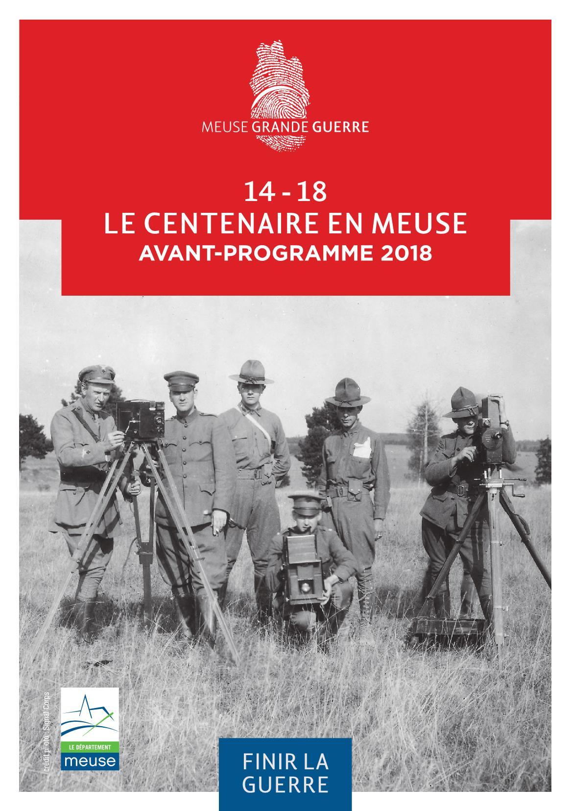 Programme Centenaire Bataille Verdun Meuse 2018