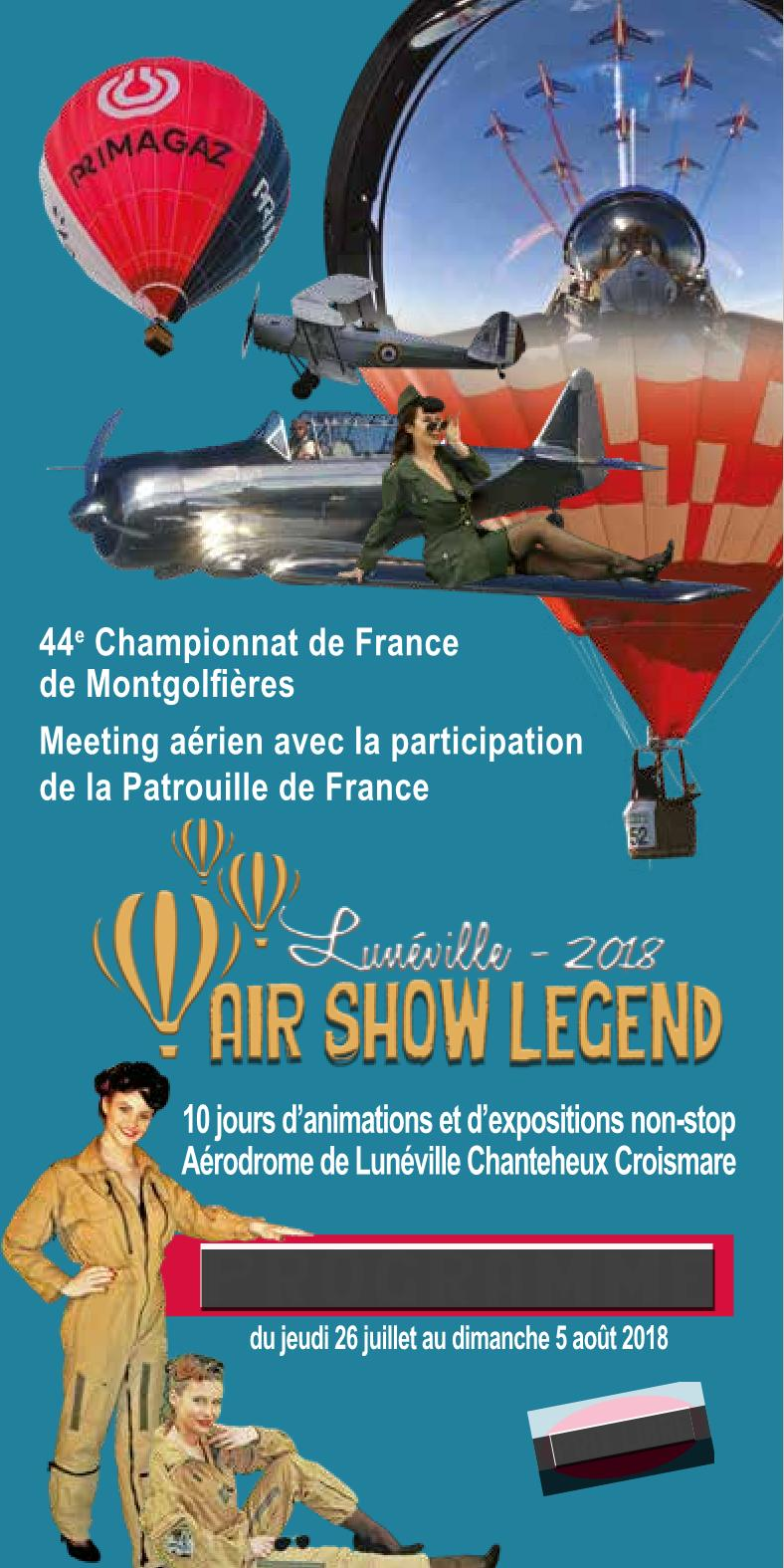 Programme Air Show Legend 2018