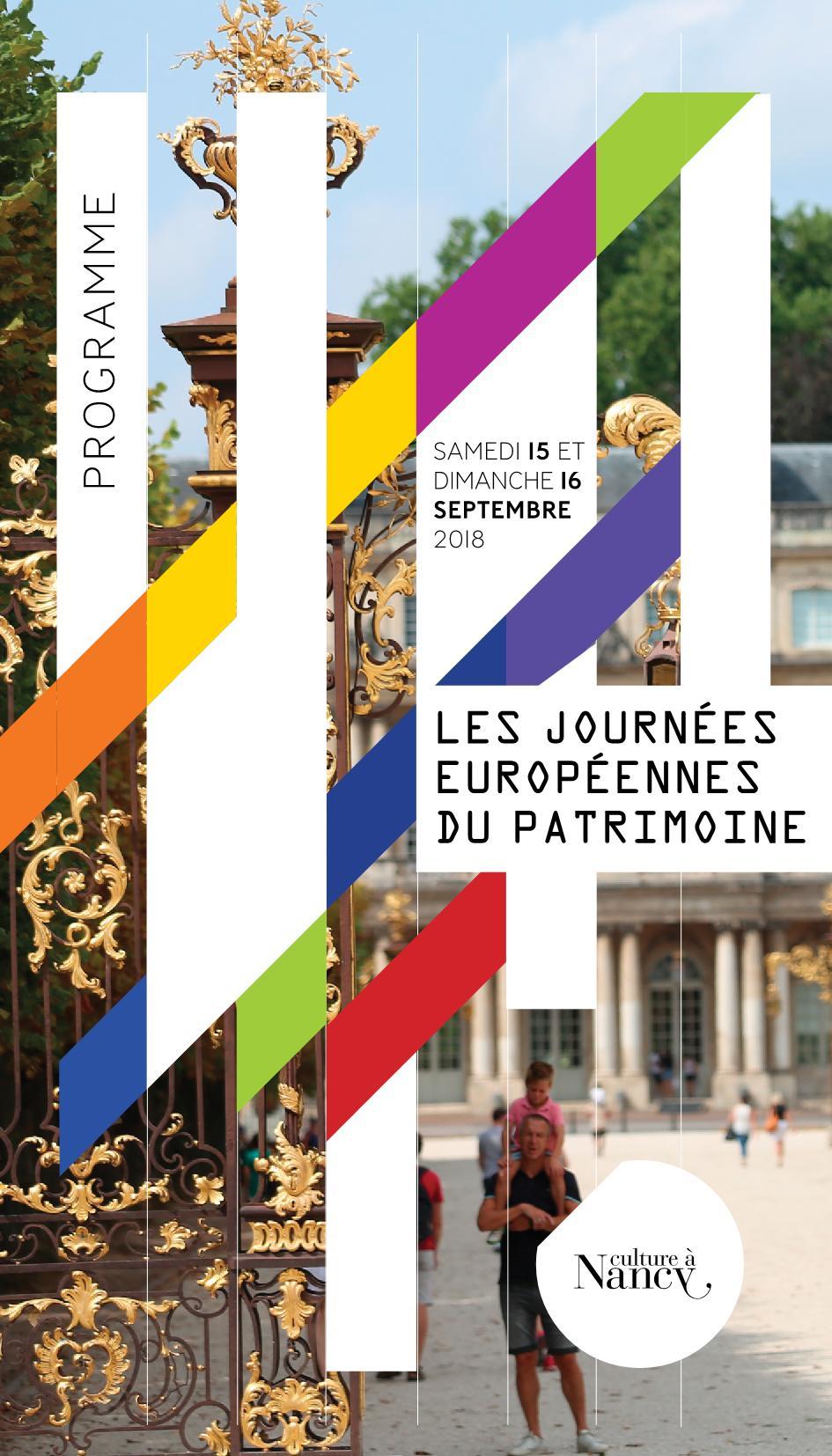 Programme Journées Patrimoine Nancy 2018