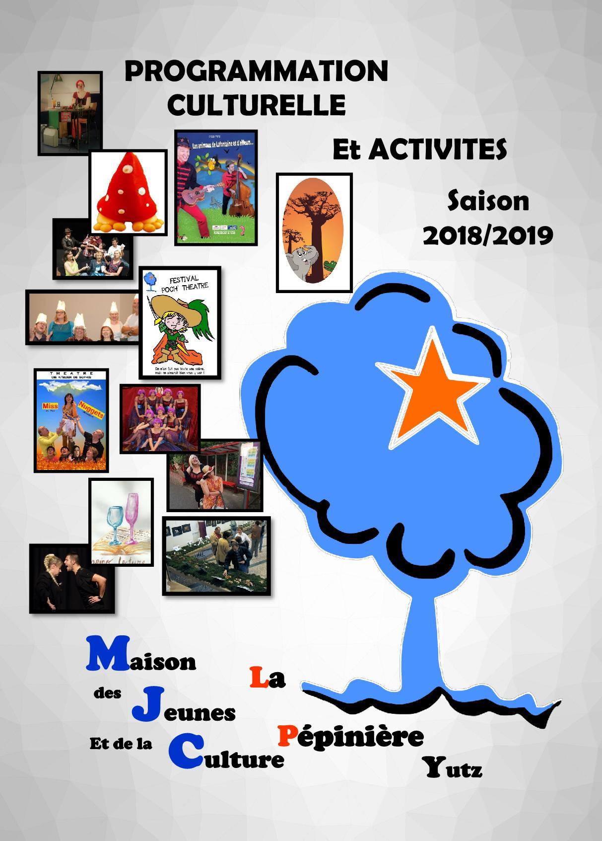 Programme Saison 2018/2019 MJC Yutz