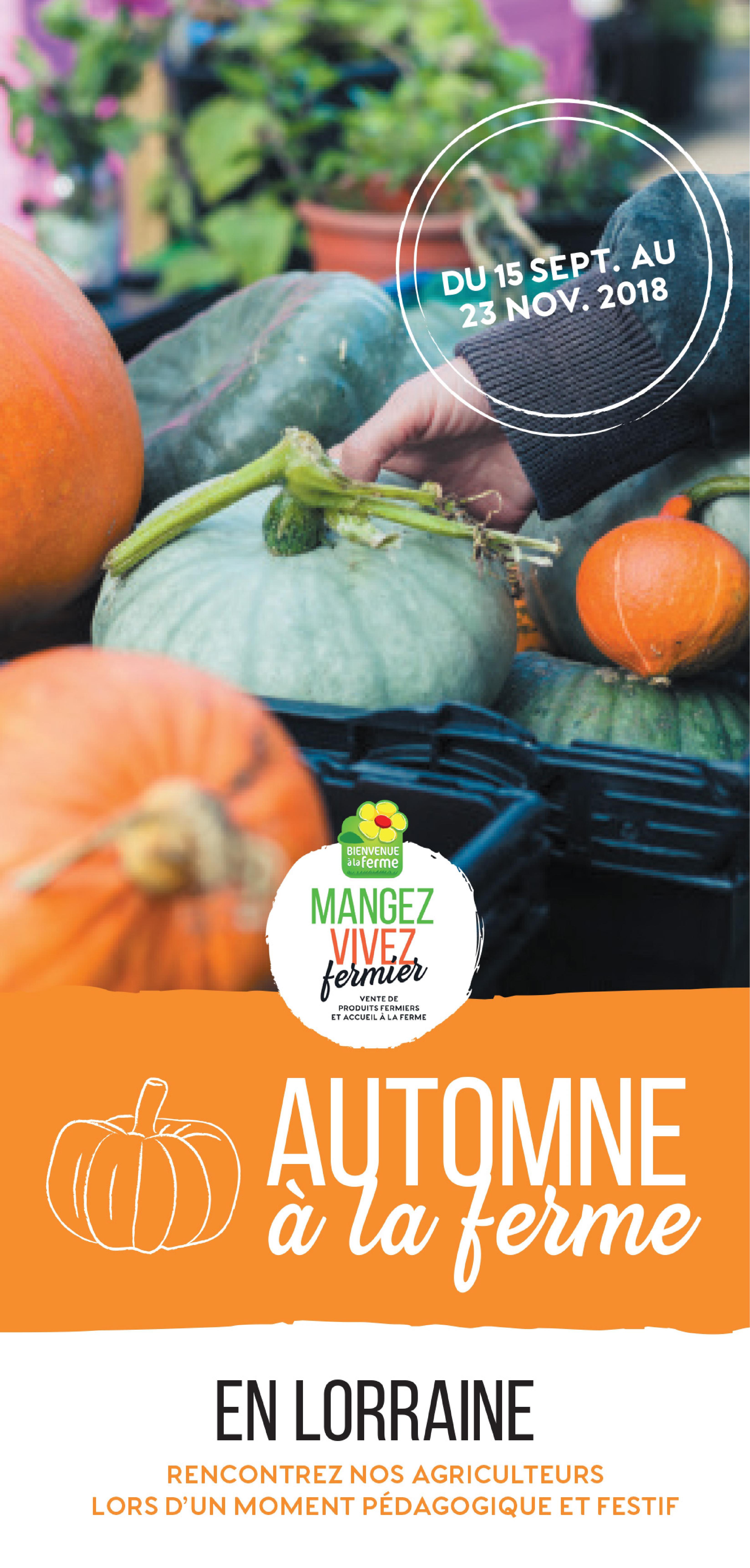 Programme Automne à la ferme en Lorraine 2018