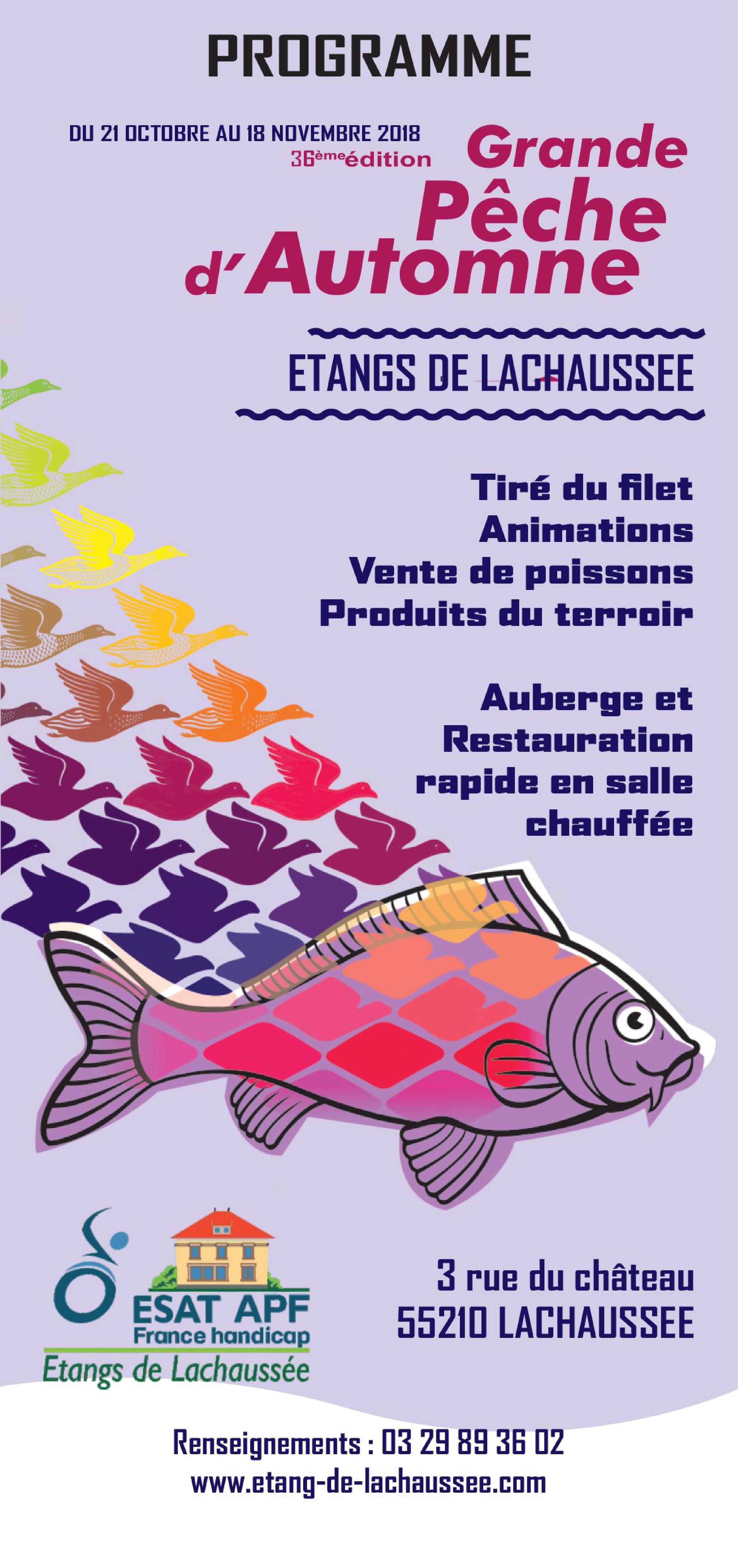 Programme Grande Pêche d'Automne à Lachaussée