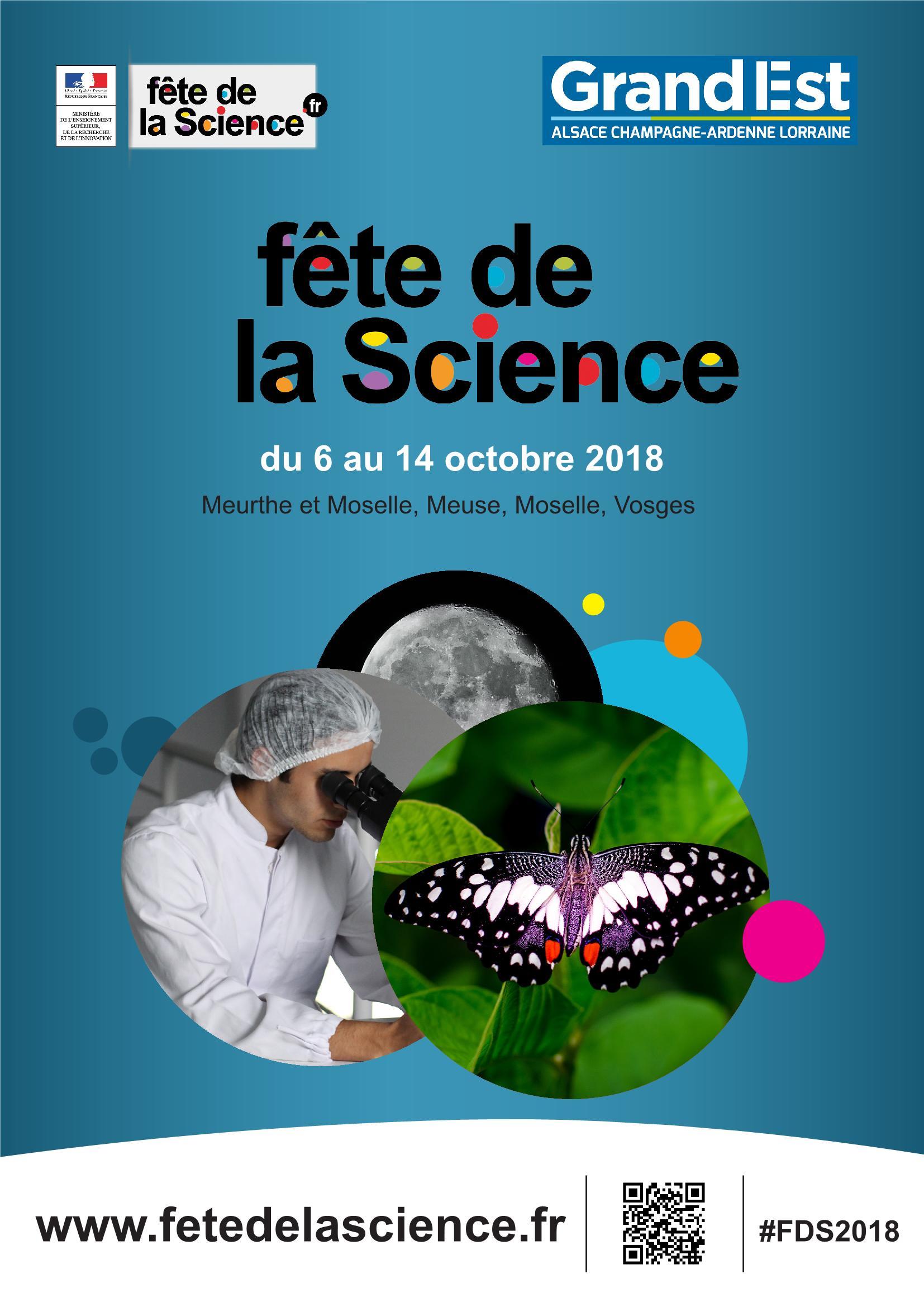 Programme Fête de la Science 2018 en Lorraine