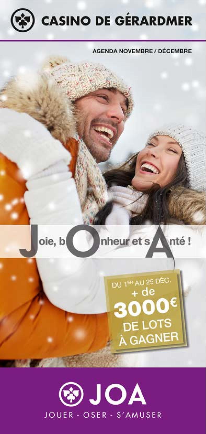Programme Novembre Décembre Casino JOA