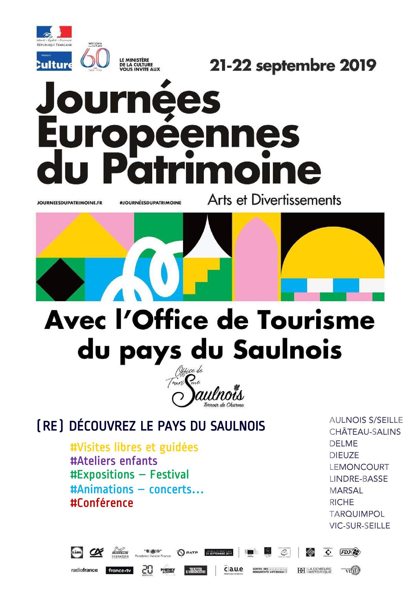 Journées du Patrimoine Pays du Saulnois 2019