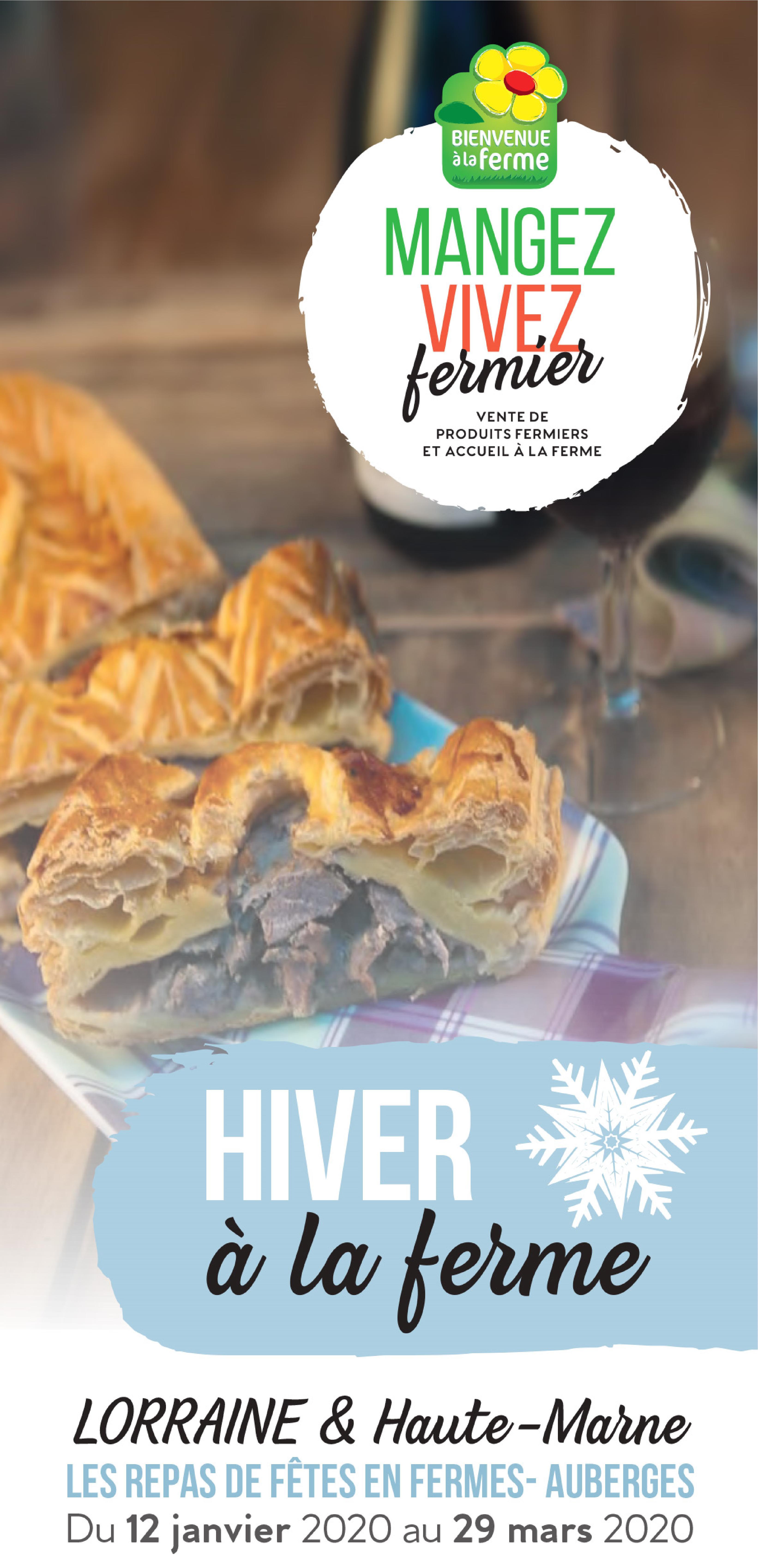 Goûtez l'Hiver à la Ferme 2020 Programmation Les Repas de Fêtes en Fermes-Auberges 12 janvier au 29 mars