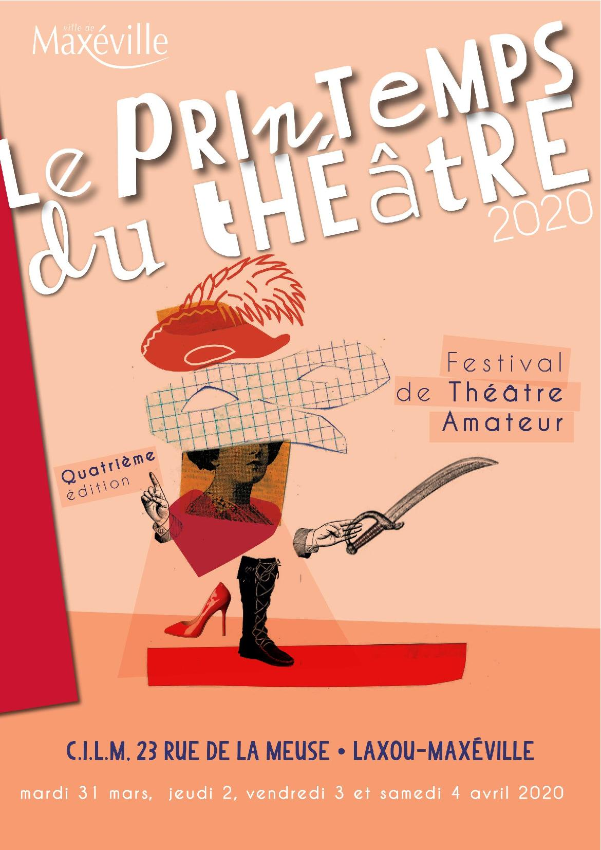 Festival Le Printemps du Théâtre au CILM Laxou 2020