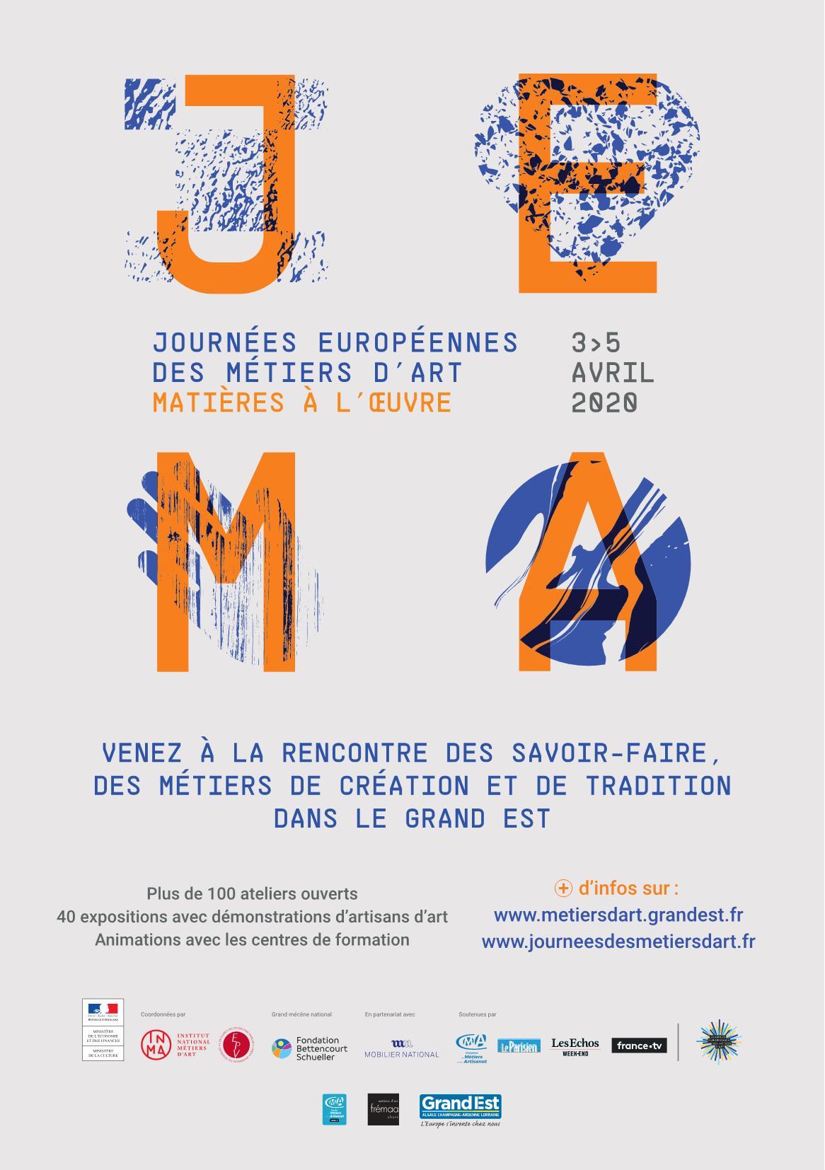Journées Européennes des Métiers d'Art 2020 Région Grand Est