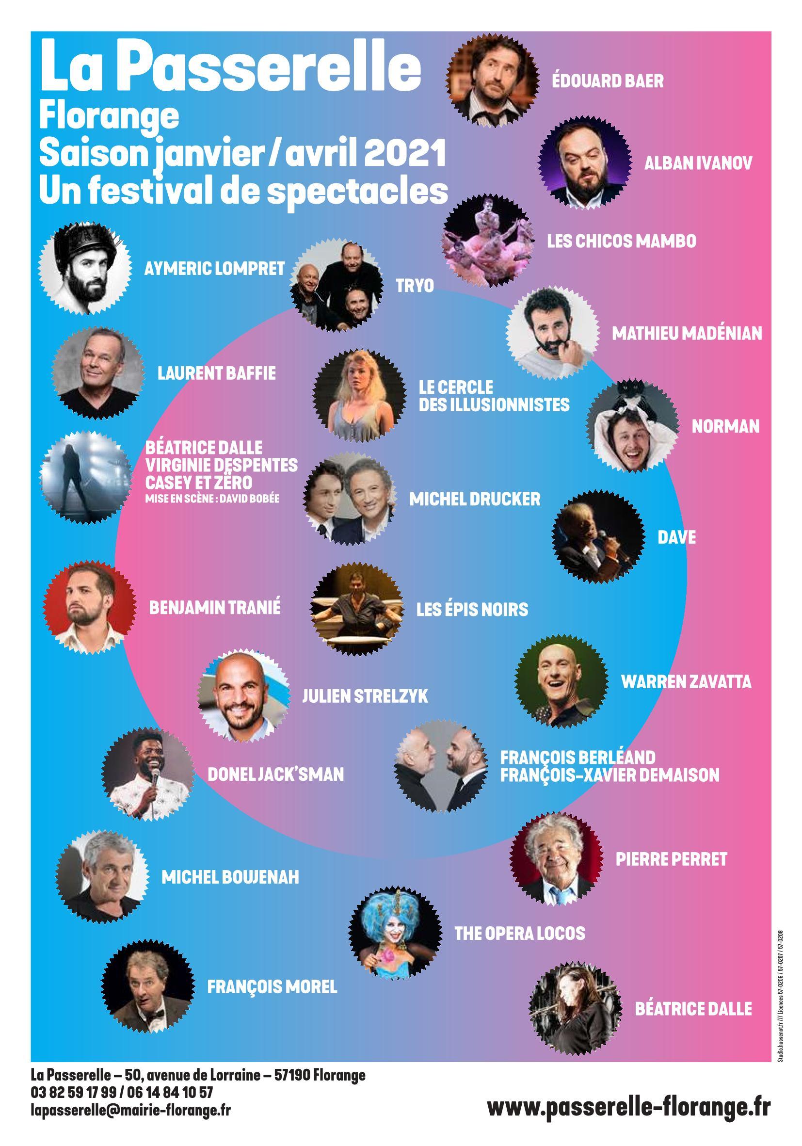 Saison Culturelle La Passerelle Florange 2021