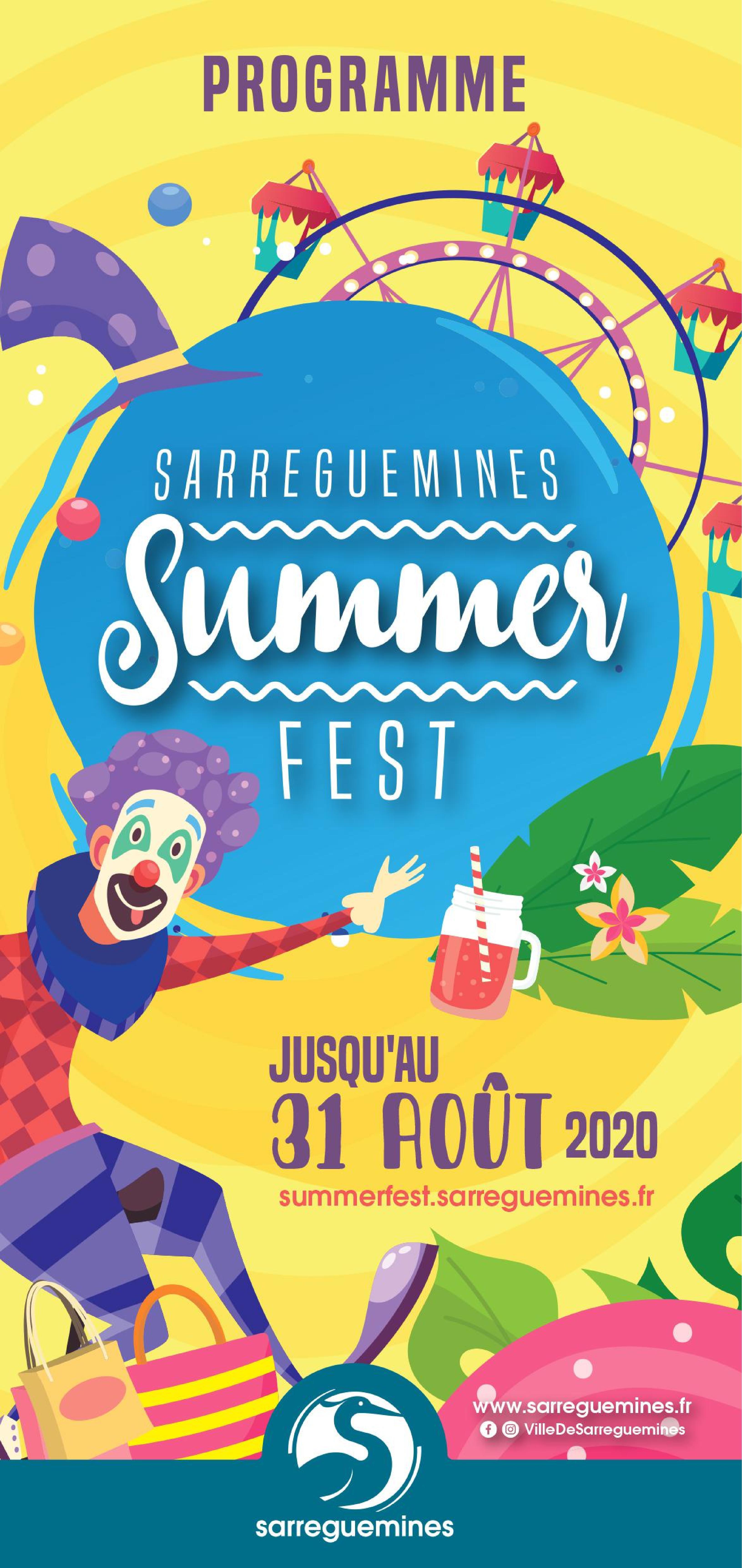 Summer Fest Sarreguemines 2020 grande roue, spectacles, musique, sport, théâtre, déambulations et fanfares