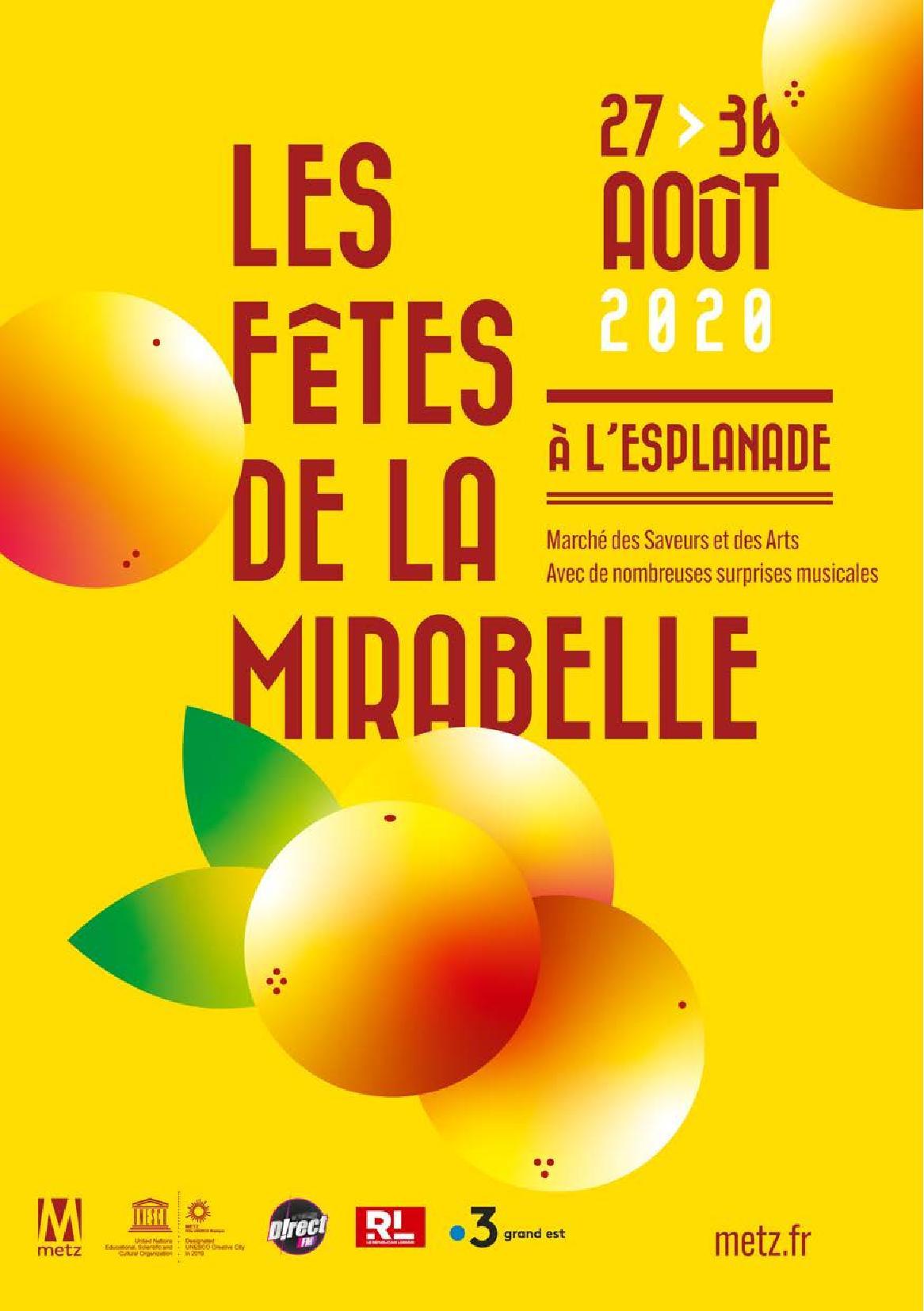 Les Fêtes de la Mirabelle 2020 Metz Marché des Saveurs et des Arts - Nombreuses surprises musicales