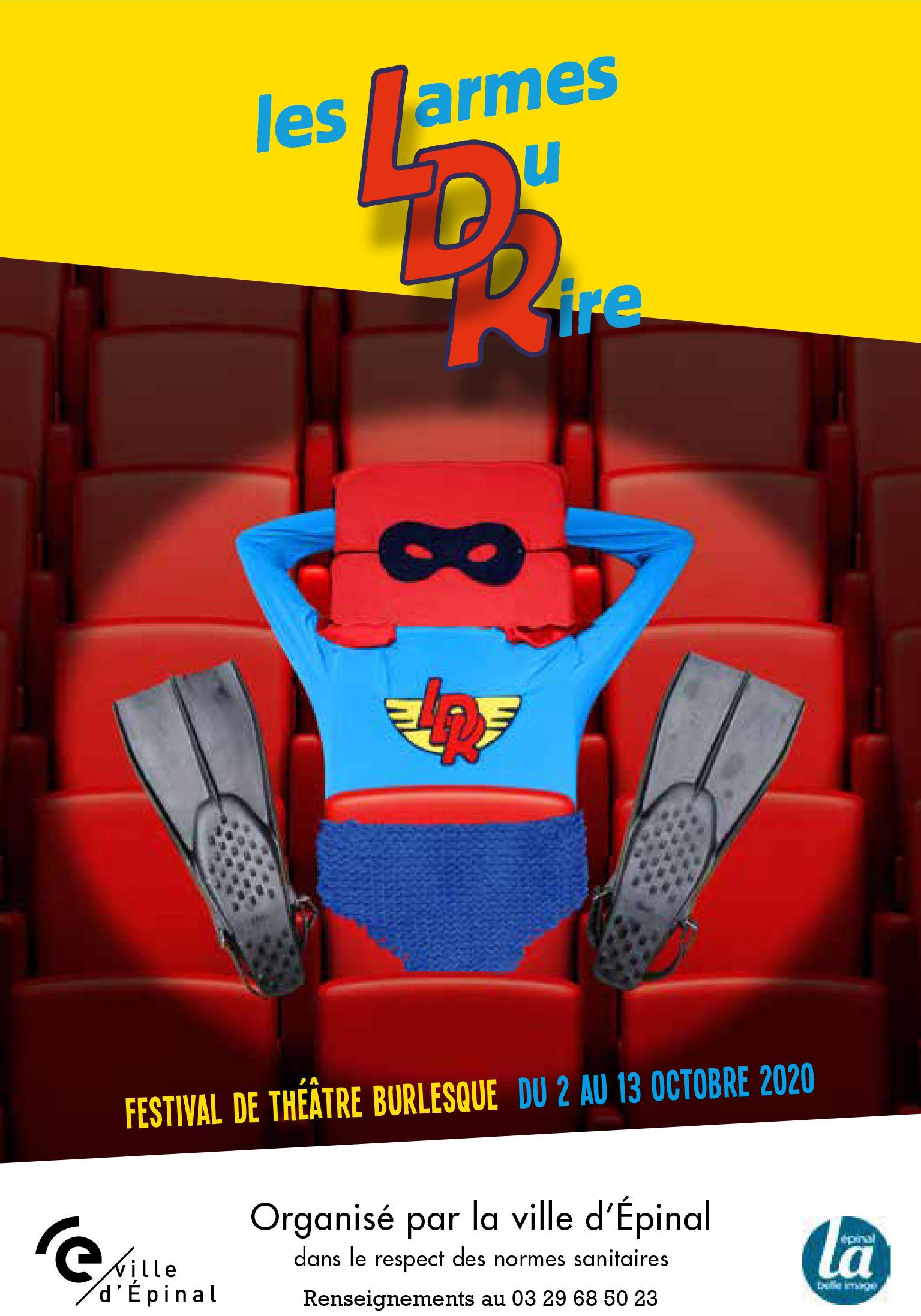 Les Larmes du Rire 2020 Epinal Festival de Théâtre Burlesque
