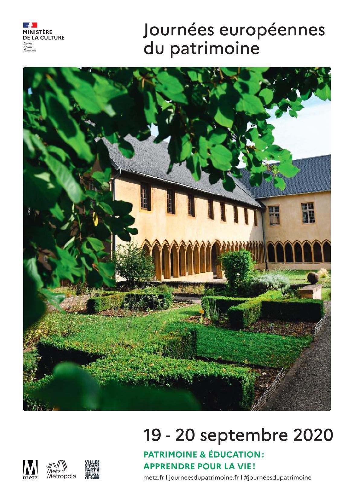 Les Journées Européennes du Patrimoine 2020 Metz Lorraine