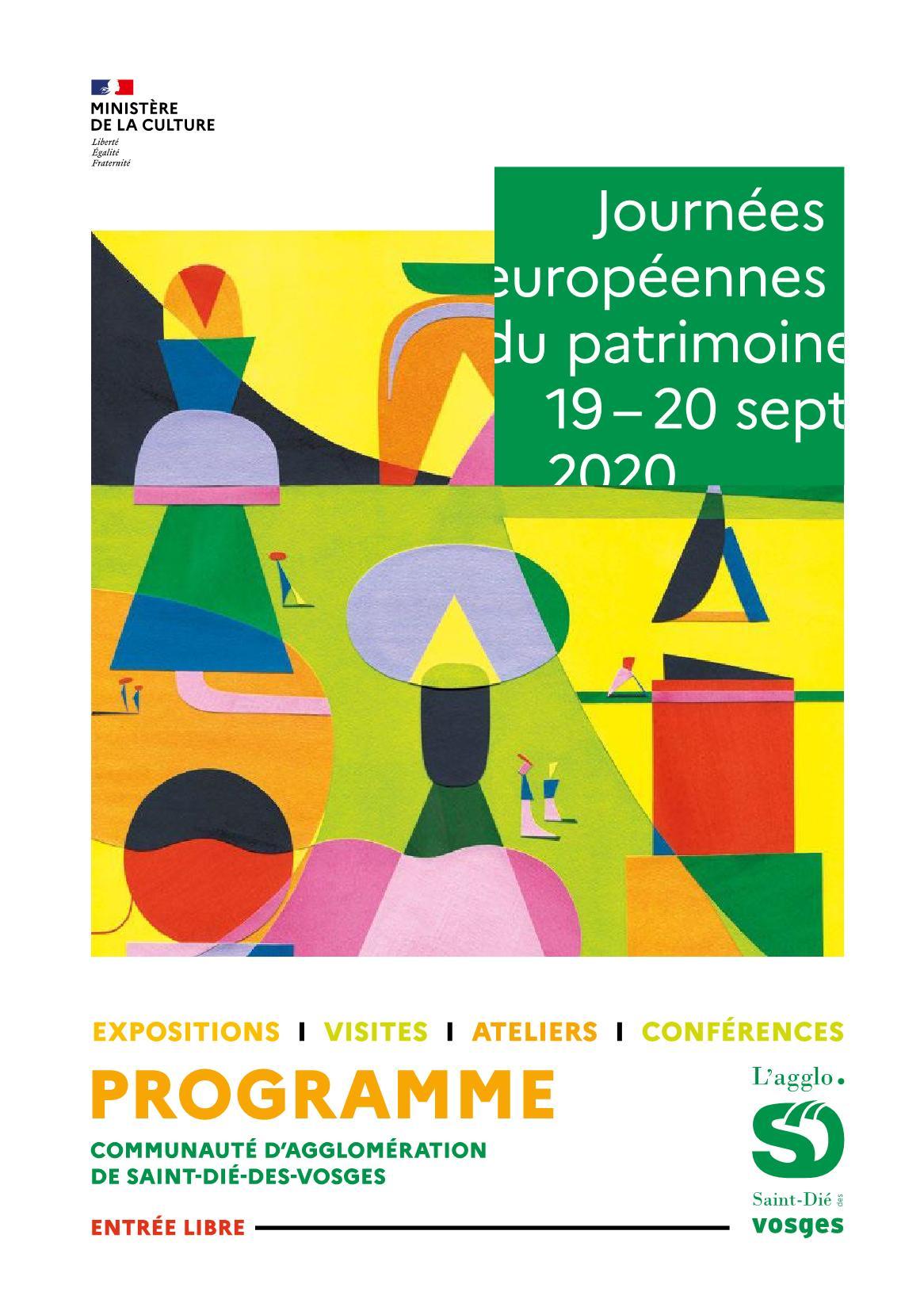 Les Journées Européennes du Patrimoine 2020 Saint-Dié-dès-Vosges Lorraine