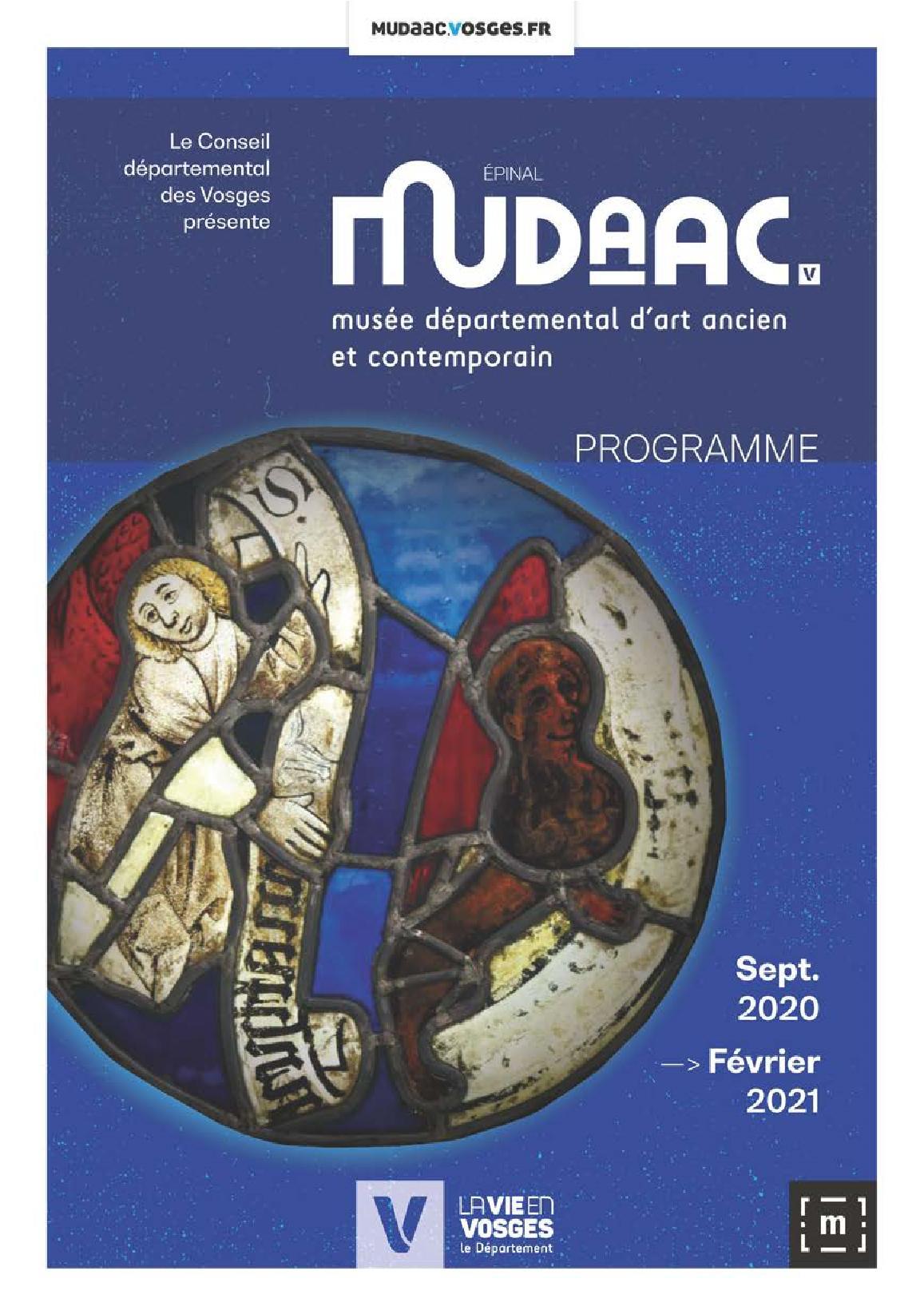 MUDAAC Musée Départemental d'Art Ancien & Contemporain 2020-2021 Epinal Vosges