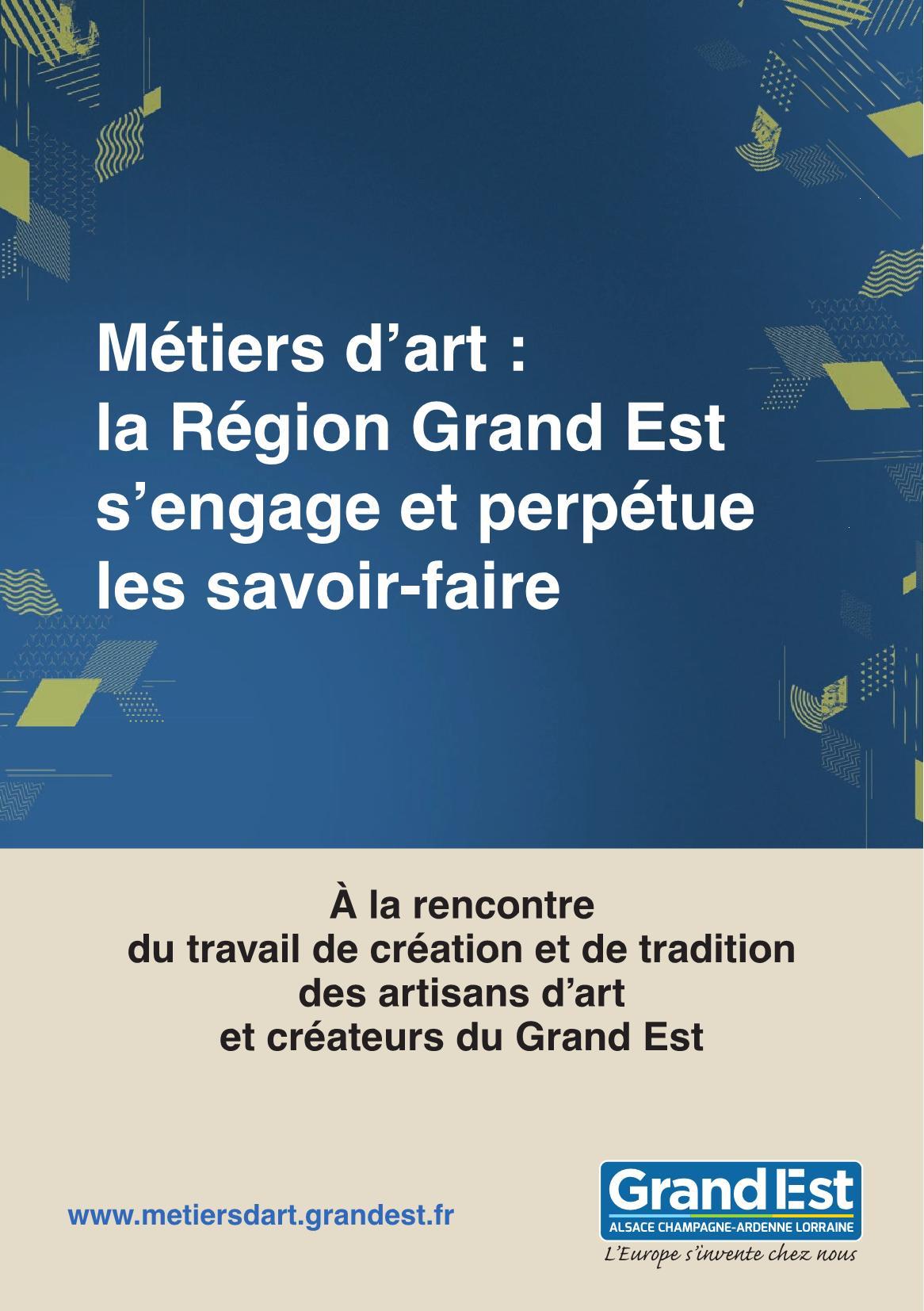 Journées Européennes des Métiers d'Art 2019 Région Grand Est