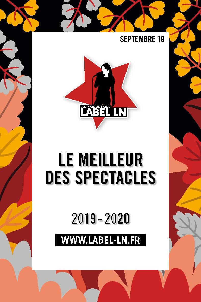 Productions Label LN Spectacles et Concerts 2019-2020