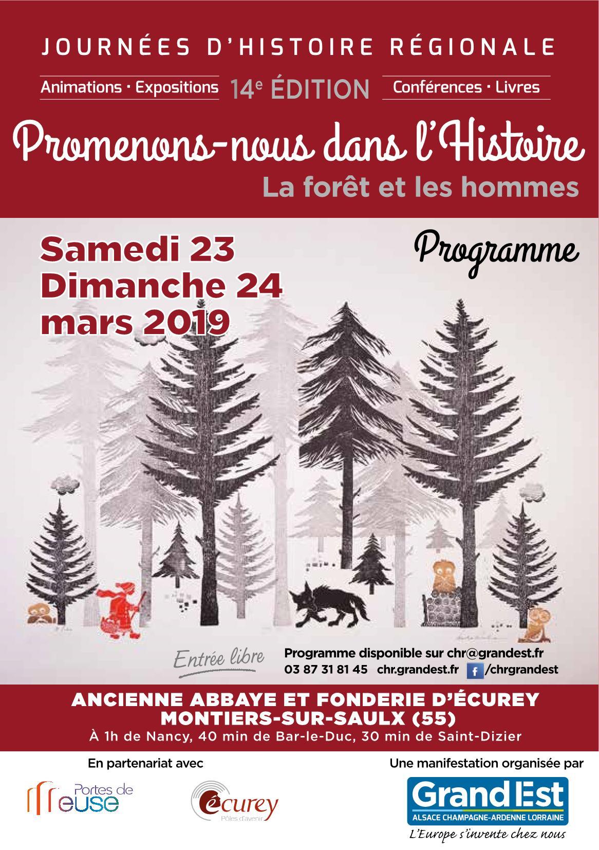 Journées d'Histoire Régionale Programme 2019