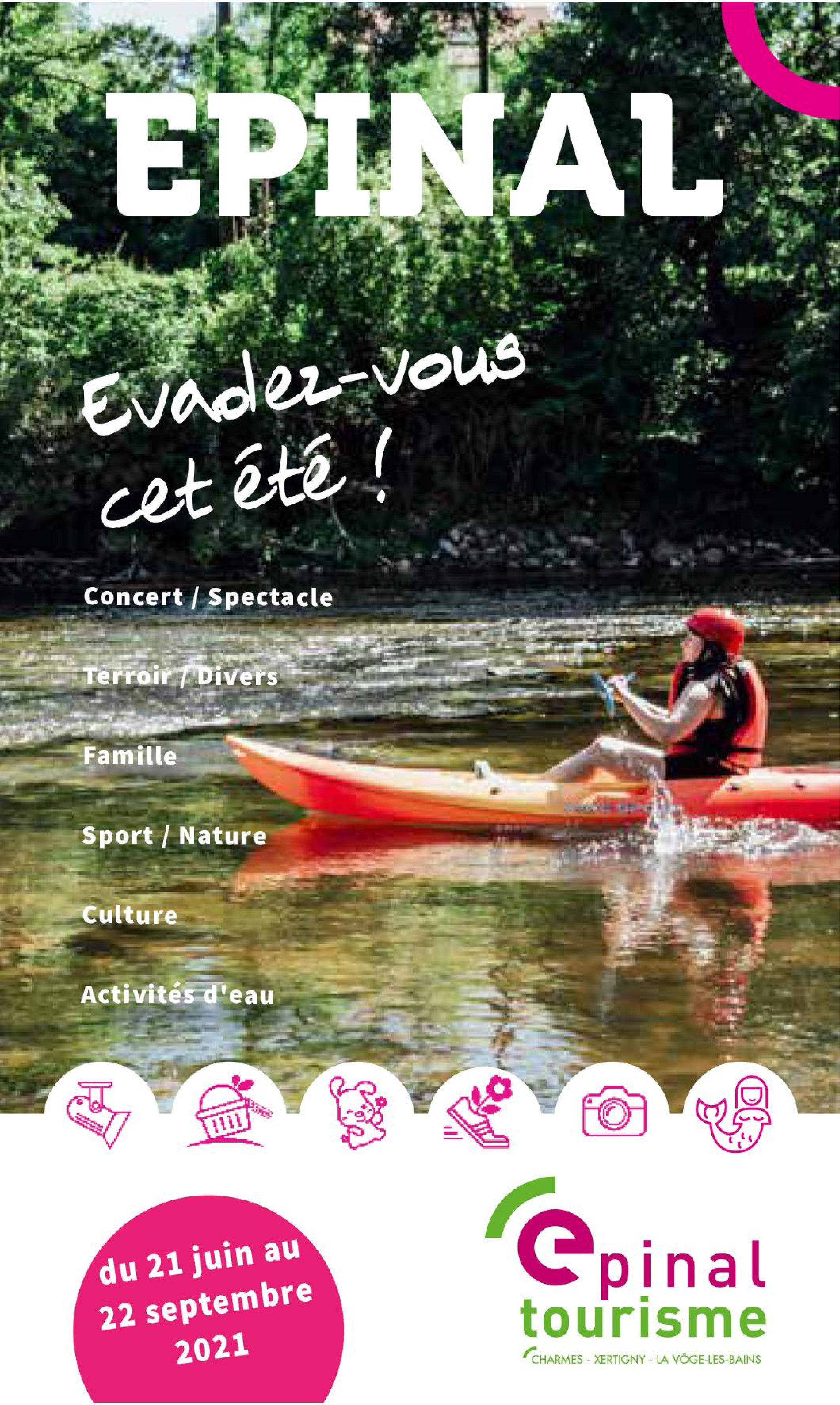 Epinal Tourisme Saison Estivale 2021 Programme des animations