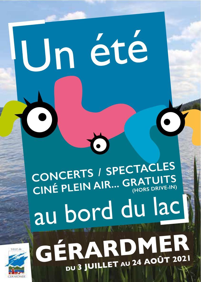 Un Été au bord du Lac Gérardmer spectacles, cinés plein air, concerts 2021