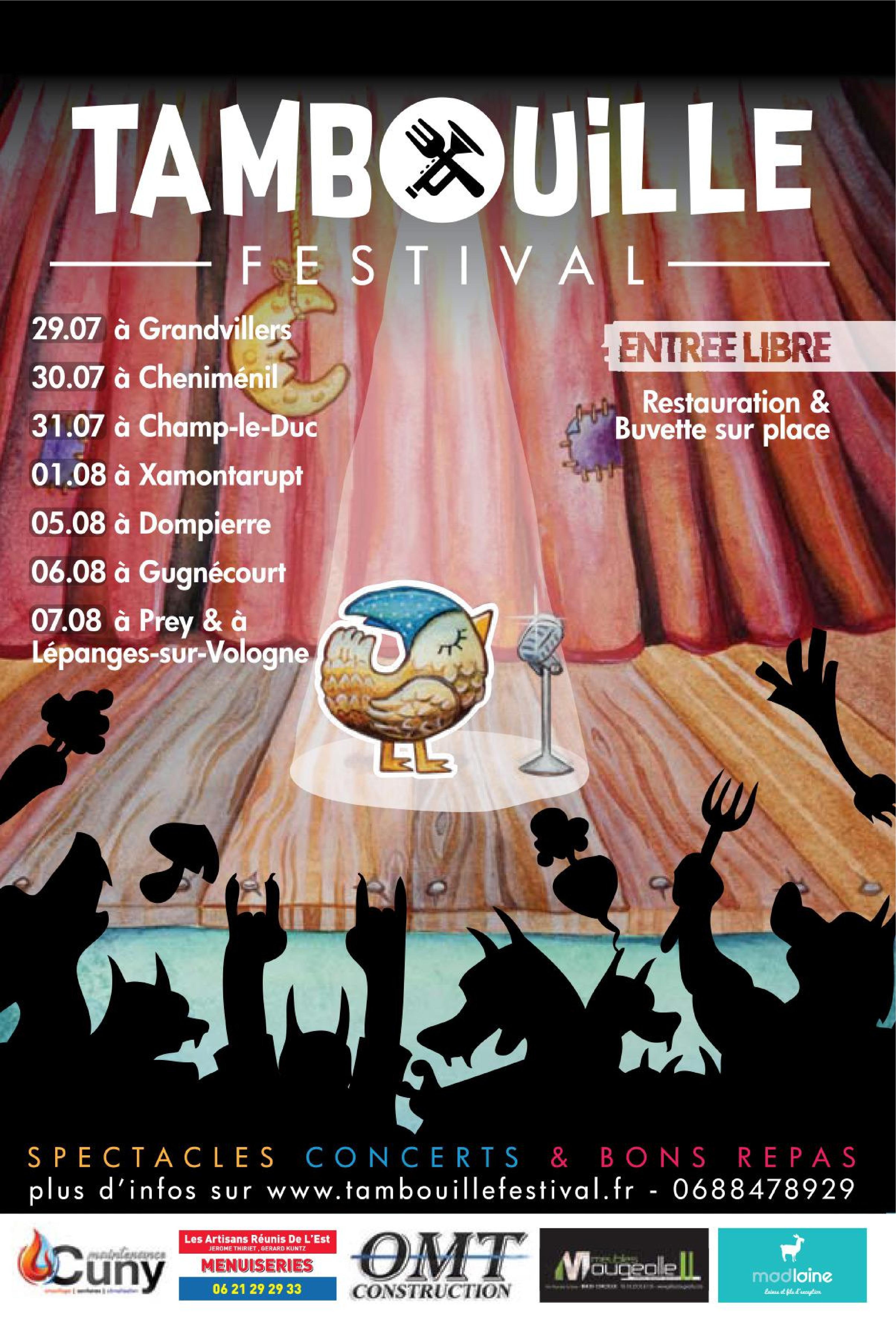 Tambouille Festival dans les Vosges 2021 Spectacles Concerts Bons repas Entrée libre