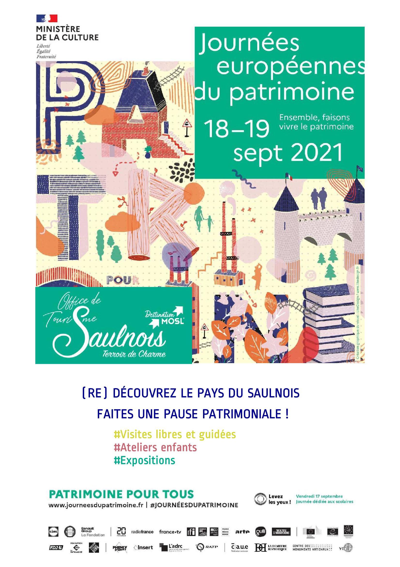 Journées du Patrimoine Pays du Saulnois 2021 : visites libres et guidées, Ateliers enfants, Expositions...