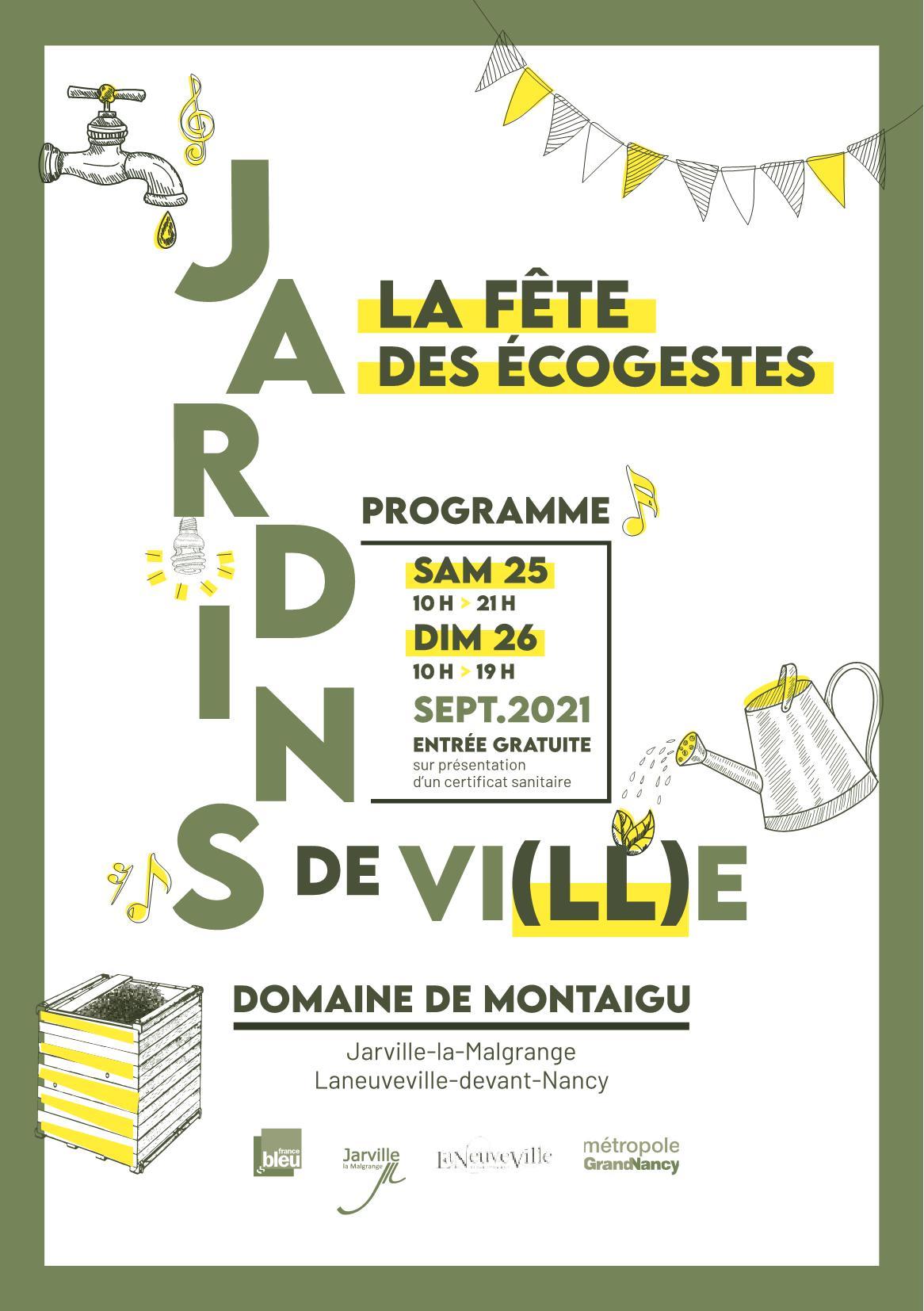 Jardins de Ville, Jardins de Vie Grand Nancy 2021